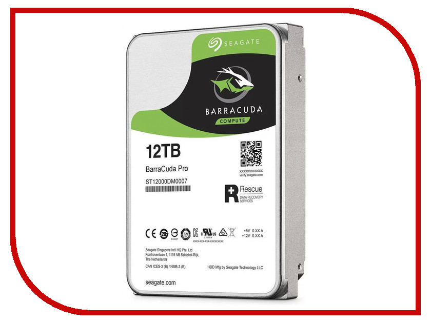 Жесткий диск 12Tb - Seagate Barracuda Pro ST12000DM0007 2tb seagate barracuda st2000dm001