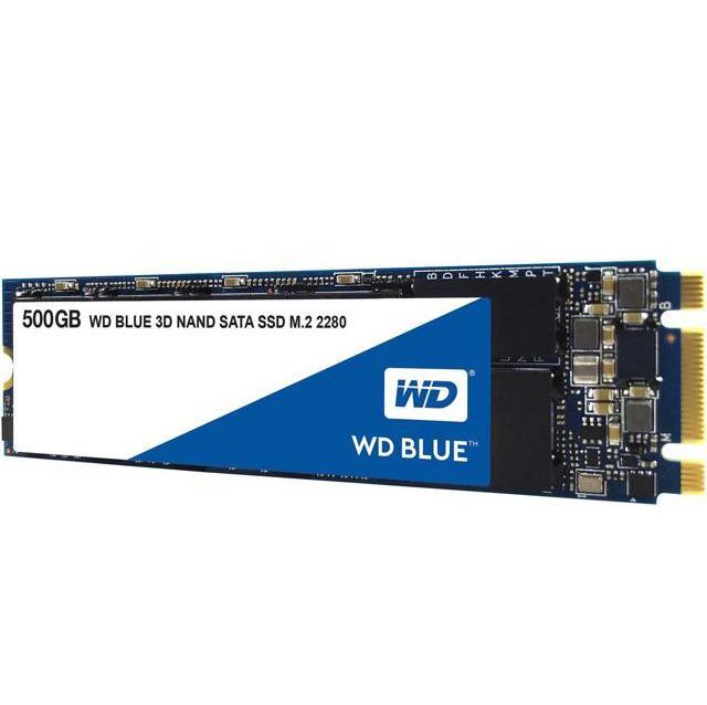 Твердотельный накопитель Western Digital WD BLUE 3D NAND SATA SSD 500 GB (WDS500G2B0B)