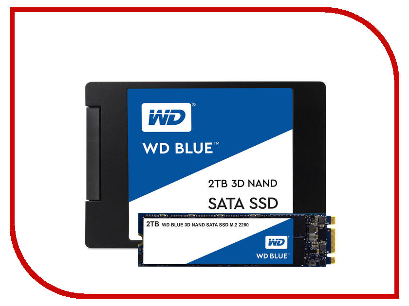 Жесткий диск 2Tb - Western Digital WD Blue WDS200T2B0A bob sinclar a western video story