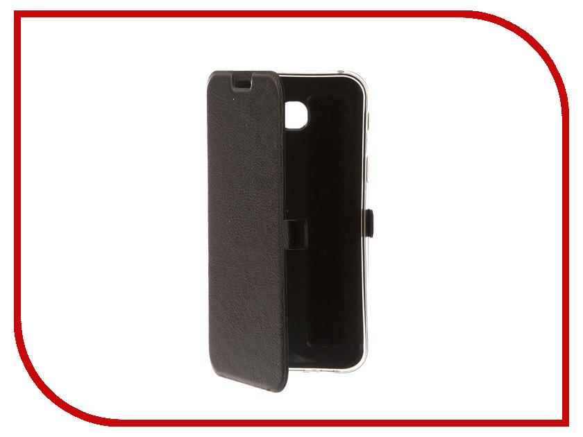 Аксессуар Чехол Samsung Galaxy A7 2017 CaseGuru Magnetic Case Dark Black 99894 mooncase senior leather flip wallet card slot bracket back чехол для cover samsung galaxy a7 браун