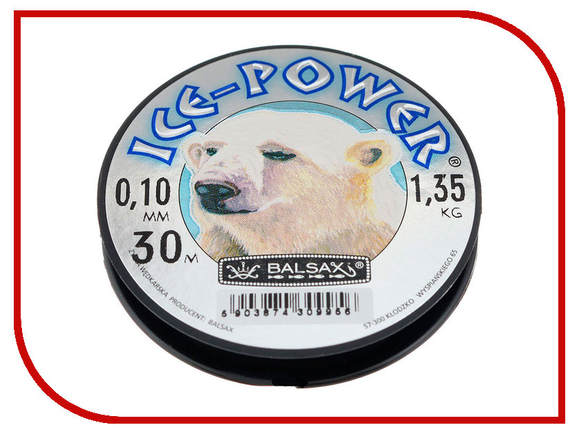 Леска Balsax Ice-Power 30m 0.10mm 13-12-20-136