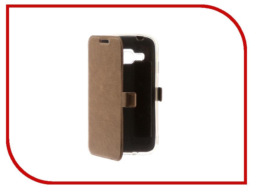 все цены на Аксессуар Чехол для Samsung Galaxy J1 Mini Prime CaseGuru Magnetic Case Light Brown 100474