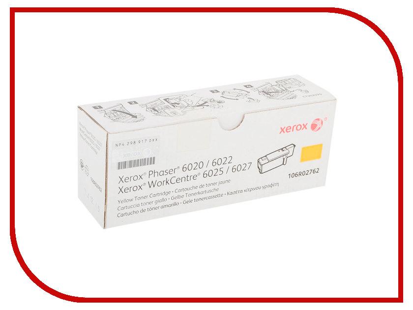 Картридж Xerox 106R02762 Yellow для Phaser 6020/22 / WorkCentre 6025/27 картридж xerox yellow 106r01337