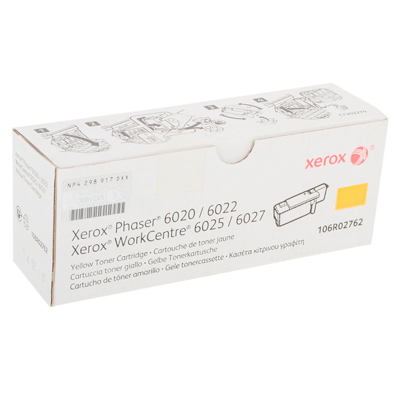 Картридж Xerox 106R02762 Yellow для Phaser 6020/22 / WorkCentre 6025/27