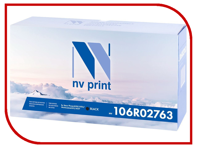 Картридж NV Print Black NV-106R02763Bk для Phaser 6020/6022 / WorkCentre 6025/6027 картридж nv print для samsung sl m2620 2820 2870 3000k nv mltd115l