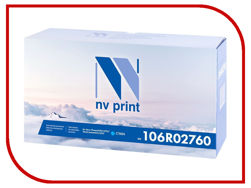 Картридж NV Print Cyan NV-106R02760C для Phaser 6020/6022 / WorkCentre 6025/6027 nv print nv print 01604