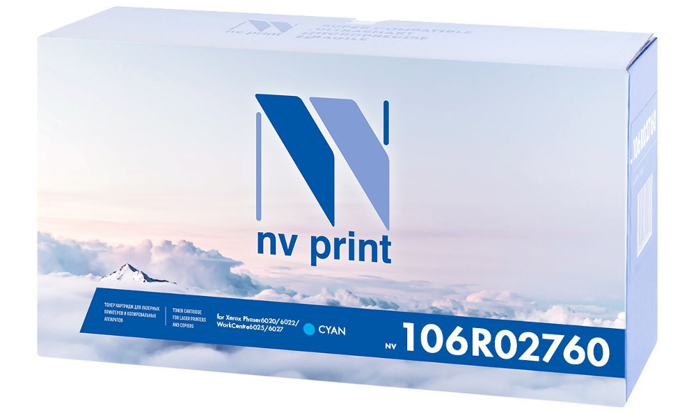 Картридж NV Print Cyan NV-106R02760C для Phaser 6020/6022 / WorkCentre 6025/6027