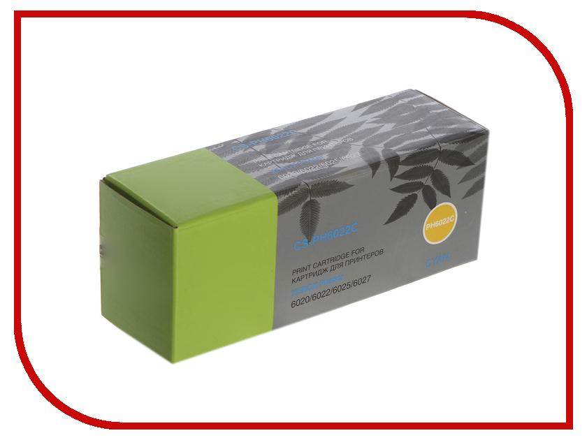Картридж Cactus Cyan CS-PH6022C для Phaser 6020/6022/WC 6025/6027 цены онлайн