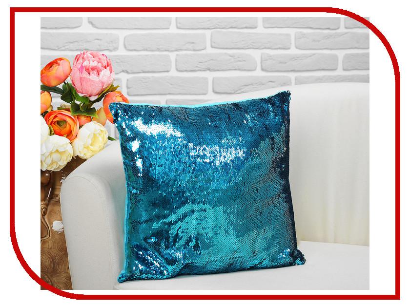 Подушка СИМА-ЛЕНД Великолепный хамелеон 35x35cm Grey-Blue 2498141