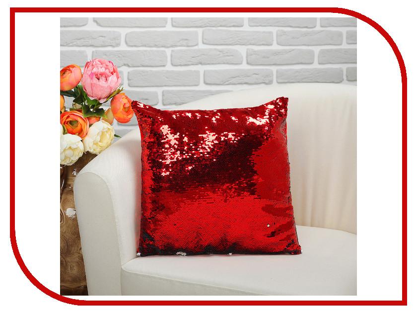 Подушка СИМА-ЛЕНД Великолепный хамелеон 35x35cm Grey-Red 2498142