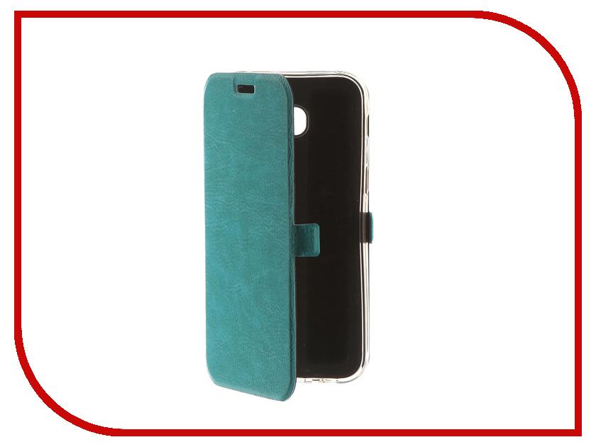 Аксессуар Чехол для Samsung Galaxy A5 2017 CaseGuru Magnetic Case Turquoise 99871 аксессуар чехол samsung j3 2017 j330f zibelino clear view black zcv sam j330 blk