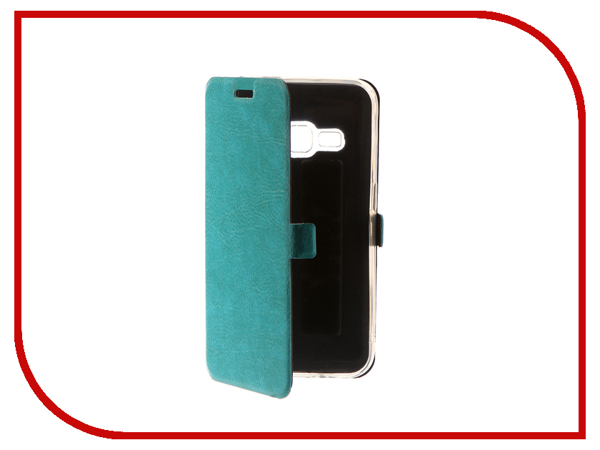 Аксессуар Чехол для Samsung Galaxy J1 2016 CaseGuru Magnetic Case Turquoise 101039 аксессуар чехол samsung galaxy j1 2016c caseguru magnetic case ruby red 101048
