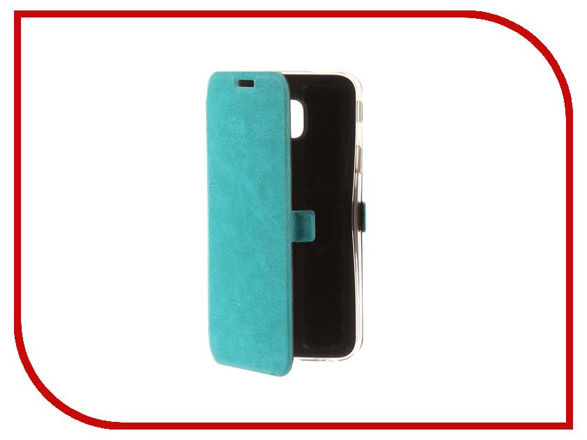 Аксессуар Чехол для Samsung Galaxy J3 2017 CaseGuru Magnetic Case Turquoise 99895 аксессуар чехол samsung j3 2017 j330f zibelino clear view black zcv sam j330 blk