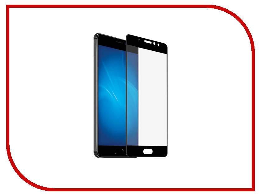 Аксессуар Защитное стекло для Meizu Pro 7 Plus DF Full Screen mzColor-16 Black for lenovo zuk z2 lcd screen display with touch screen digitizer panel glass assembly black white replacement parts free shipping