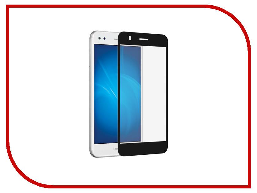 Аксессуар Защитное стекло Huawei Nova Lite 2017 DF Full Screen hwColor-33 Black аксессуар защитное стекло meizu u10 solomon full cover black