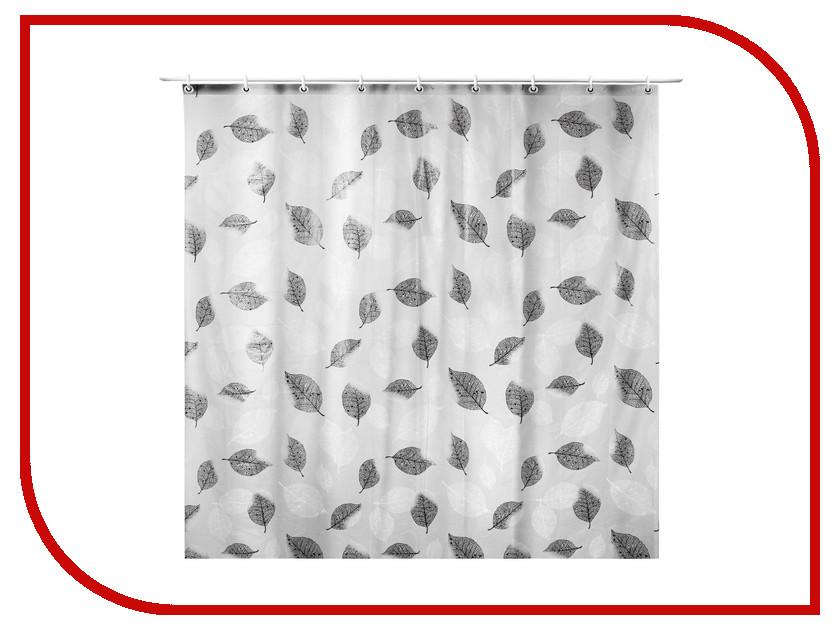 где купить Шторка Доляна Черно-белые листья 180x180cm 1546152 по лучшей цене