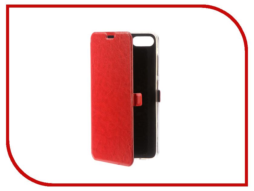 Аксессуар Чехол ASUS Zenfone 4 Max ZC554KL CaseGuru Magnetic Case Glossy Red 100562 чехол для asus zenfone 4 max zc554kl prime book черный