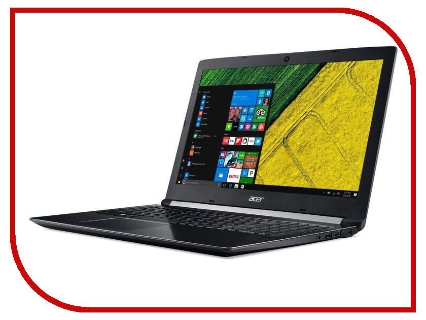 Ноутбук Acer Aspire A515-41G-T551 NX.GPYER.010 (AMD A10-9620P 2.5 GHz/8192Mb/1000Gb/No ODD/AMD Radeon RX 540 2048Mb/Wi-Fi/Bluetooth/Cam/15.6/1366x768/Windows 10 64-bit)