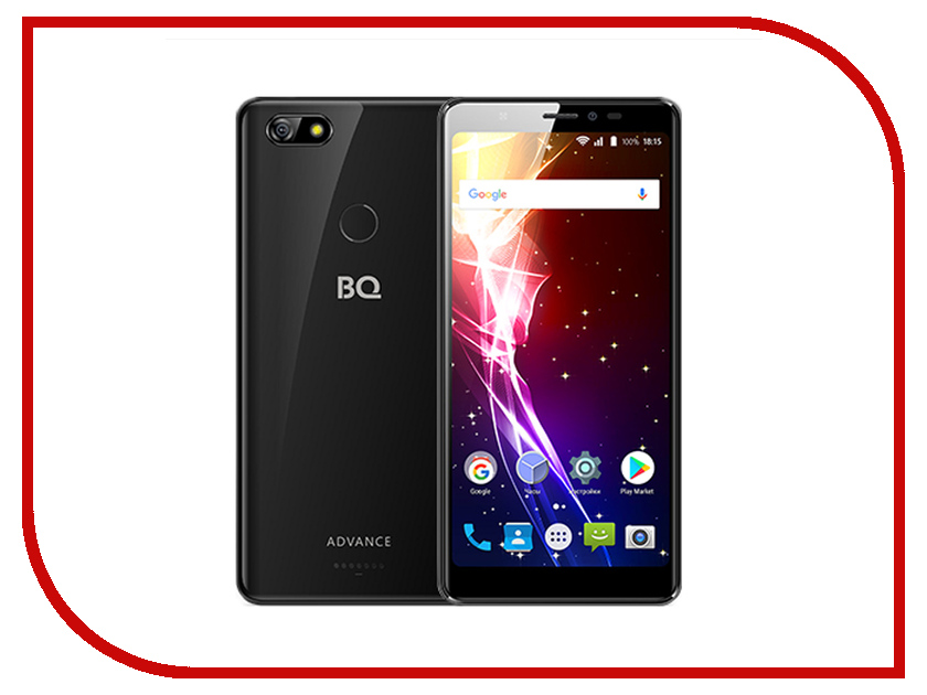 Сотовый телефон BQ 5500L Advance Black сотовый телефон archos sense 55dc 503438