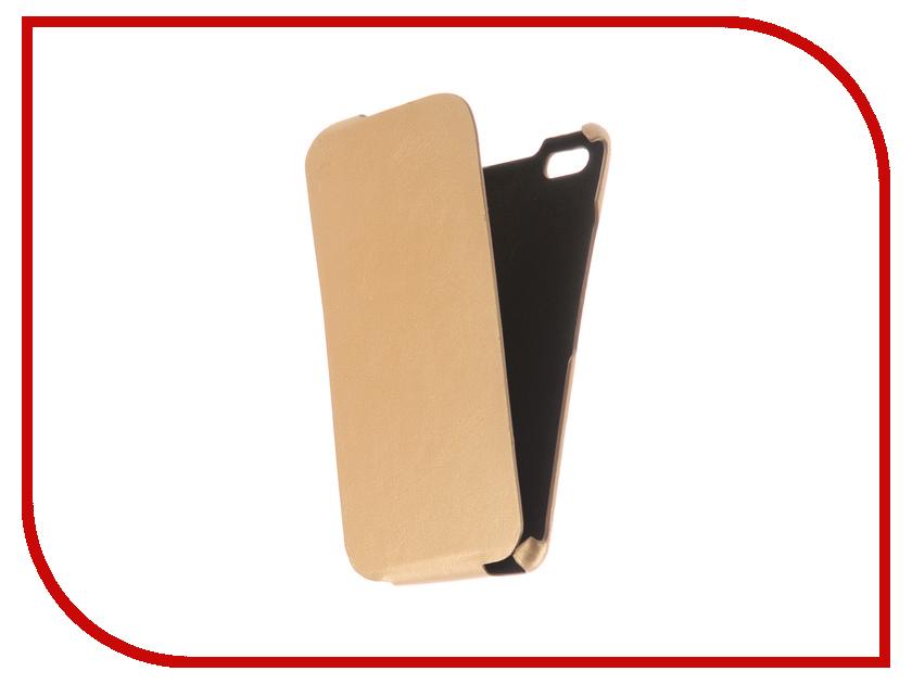 Аксессуар Чехол BQ BQS-5525 Practic Экокожа Light Gold