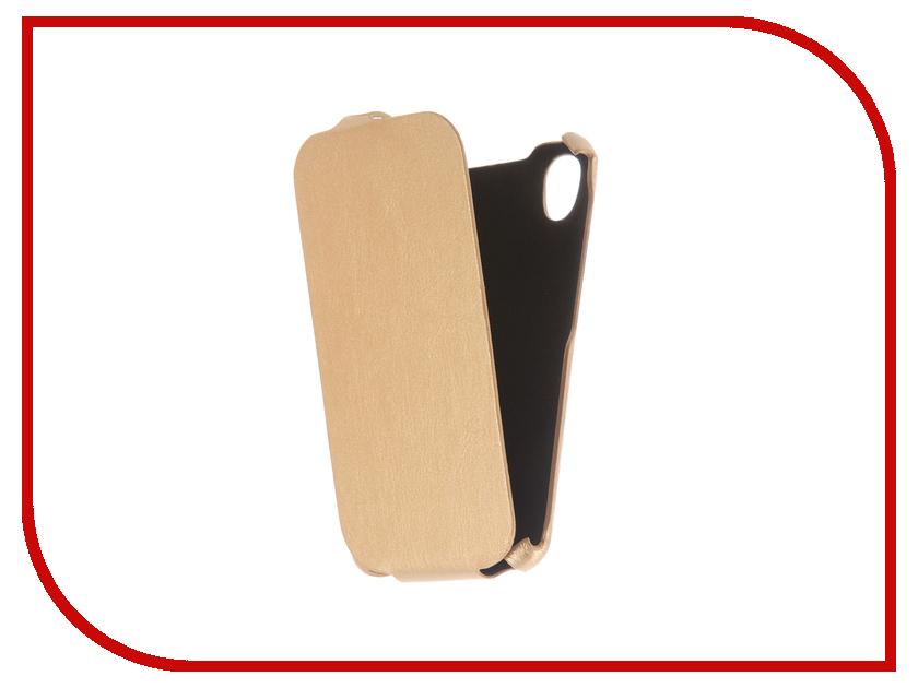 Аксессуар Чехол BQ BQS-4583 Fox Power Экокожа Light Gold смартфон bq bq 4583 fox power dark blue