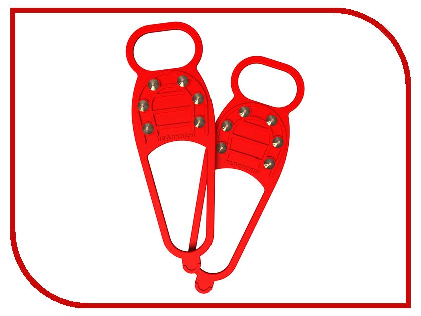 Ледоступы Ледоходы Стандарт 6+6 шипов Red ледоступы ледоходы каблук 5 5 шипов