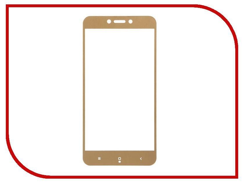 Аксессуар Защитное стекло для Xiaomi Redmi 5 Ainy Full Screen Cover 0.33mm Gold AF-X1060L чехол книжка red line book type для xiaomi redmi 5 black