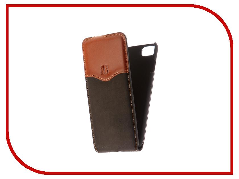 Аксессуар Чехол Burkley Flip для APPLE iPhone 7 Black/Brown MCFLCCSTBLRRI7 аксессуар чехол бампер burkley snap on для apple iphone 7 plus black bmcujblrst1i7p