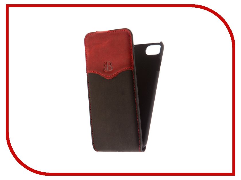 Аксессуар Чехол Burkley Flip для APPLE iPhone 7 Black/Red MCFLCCSTBLRI7 аксессуар чехол бампер burkley snap on для apple iphone 7 plus black bmcujblrst1i7p