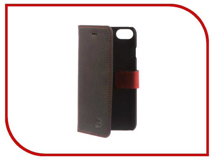 Аксессуар Чехол-книжка Burkley для APPLE iPhone 7 Black/Red BMCWCRDBLI7 аксессуар чехол бампер burkley snap on для apple iphone 7 plus black bmcujblrst1i7p