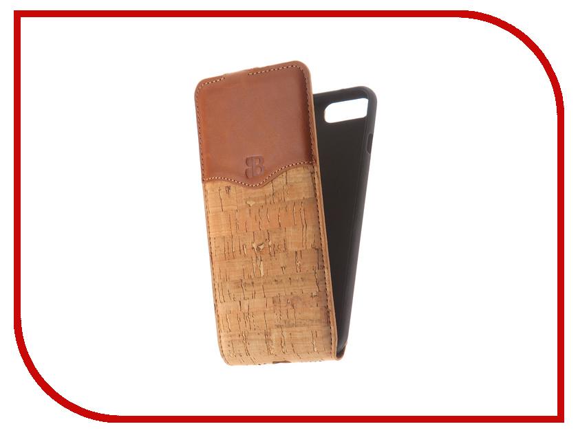 Аксессуар Чехол Burkley Flip для APPLE iPhone 7 Plus / 8 Plus Brown MCFLCCCK1-RST27pl аксессуар чехол бампер burkley snap on для apple iphone 7 plus black bmcujblrst1i7p