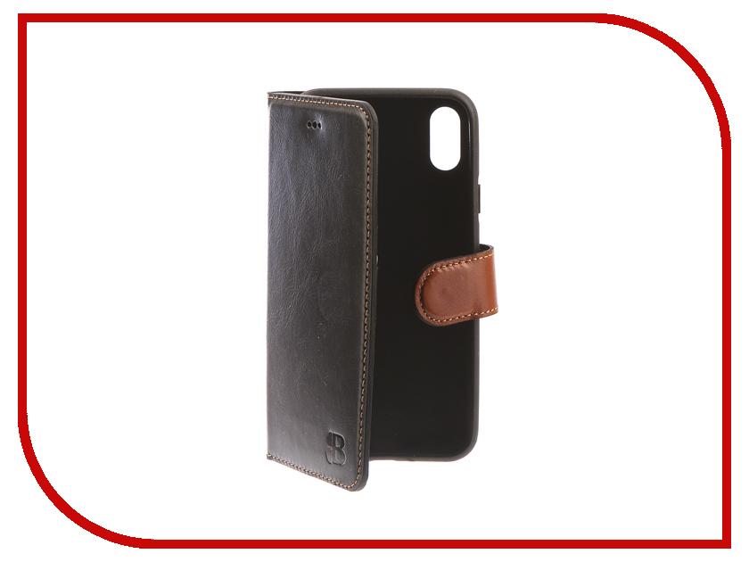 Аксессуар Чехол-книжка Burkley Wallet для APPLE iPhone X Black/Brown WCrst1rst3iPX аксессуар чехол бампер burkley snap on для apple iphone 7 plus black bmcujblrst1i7p