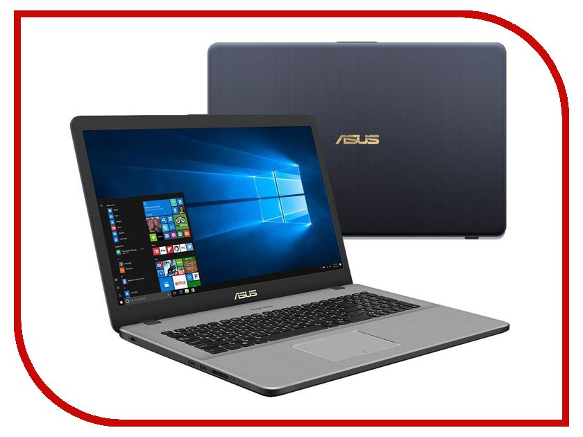 Ноутбук ASUS N705UD-GC150T 90NB0GA1-M02120 (Intel Core i7-8550U 1.8 GHz/12288Mb/1000Gb + 128Gb SSD/No ODD/nVidia GeForce GTX 1050 2048Mb/Wi-Fi/Bluetooth/Cam/17.3/1920x1080/Windows 10 64-bit) ноутбук asus k751sj ty020d 90nb07s1 m00320