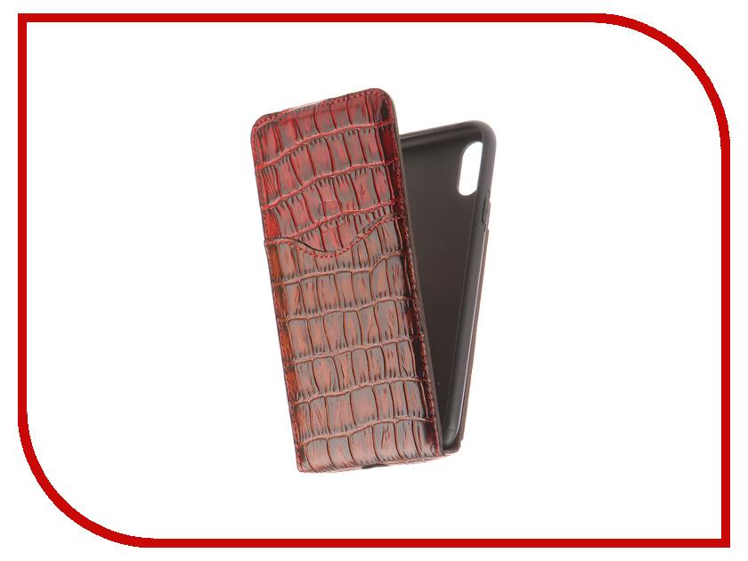 Аксессуар Чехол Burkley Flip для APPLE iPhone X Brown/Red FCyk06yk05iPX аксессуар чехол бампер burkley snap on для apple iphone 7 plus black bmcujblrst1i7p