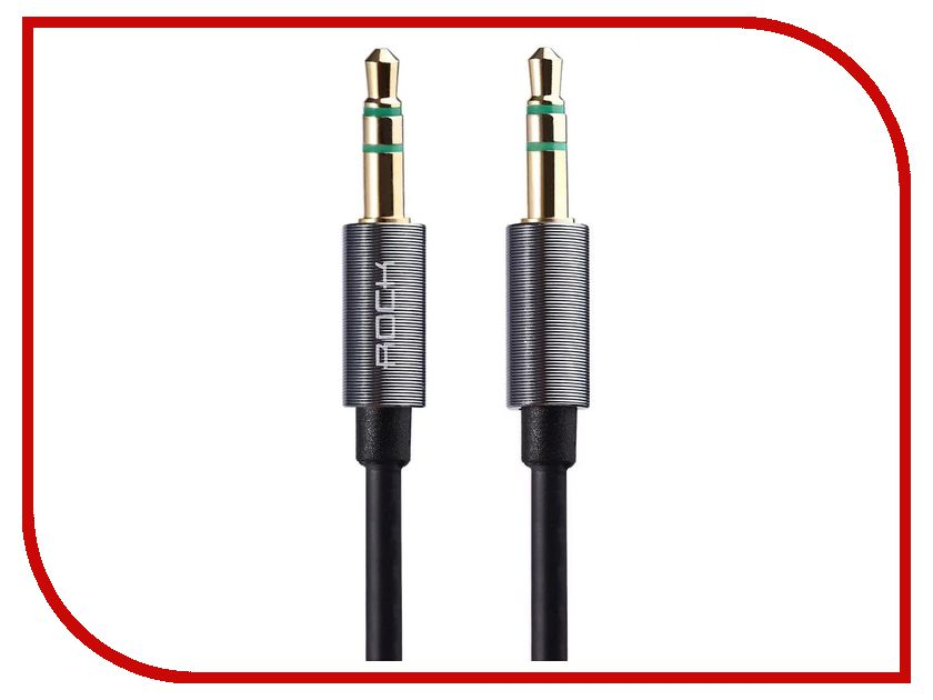 ROCK - Аксессуар Rock AUX 3.5mm Audio Cable 2m RAU0509 Space Grey