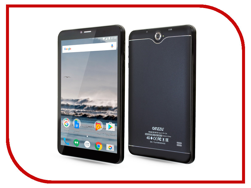 Планшет Ginzzu GT-8110 Black (Spreadtrum SC9832 1.3 GHz/1024Mb/16Gb/GPS/LTE/Wi-Fi/Bluetooth/Cam/8.0/1280x800/Android)