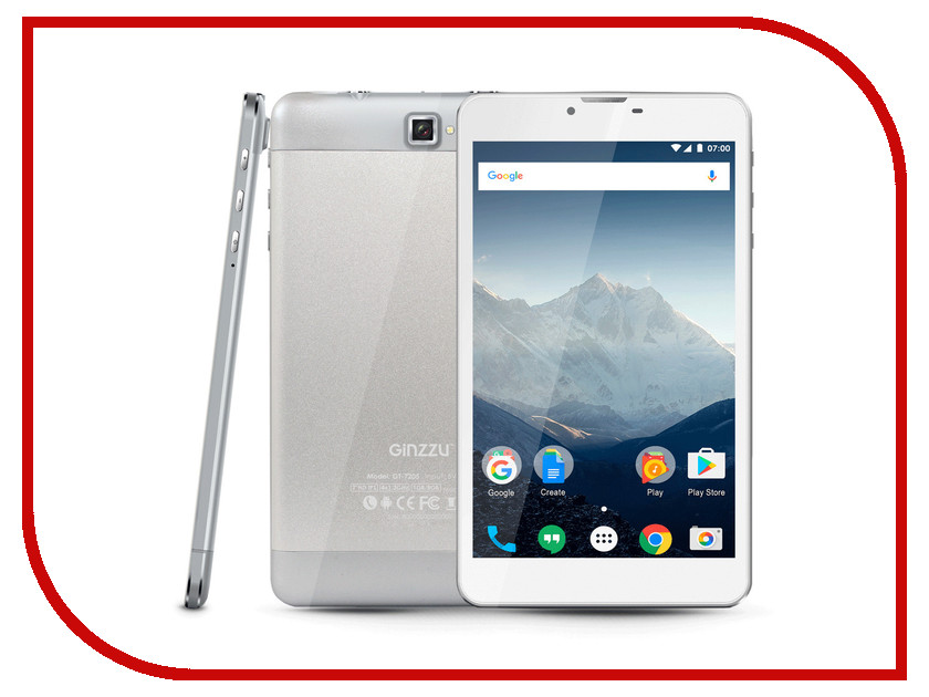 Планшет Ginzzu GT-7205 Silver (Spreadtrum SC7731G 1.3 GHz/1024Mb/8Gb/GPS/3G/Wi-Fi/Bluetooth/Cam/7.0/1280x800/Android) планшет ginzzu gt 7110 black spreadtrum sc9832 1 3 ghz 1024mb 8gb gps lte 3g wi fi bluetooth cam 7 0 1280x800 android