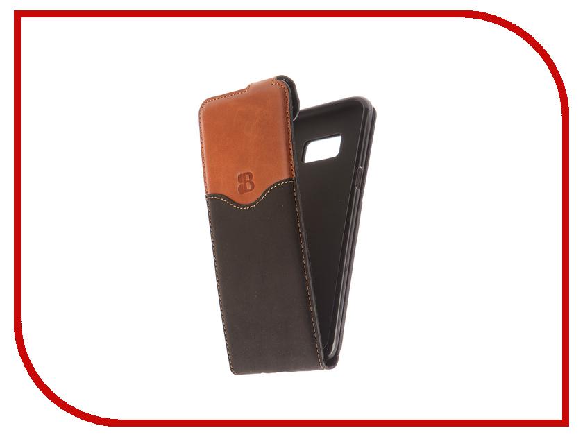 Аксессуар Чехол Samsung Galaxy S8 Plus Burkley Flip Stand Black/Brown MCFLCCG1-RST2S8pl оригинальный samsung galaxy s8 s8 plus nillkin 3d ap pro полноэкранный экранный протектор экрана