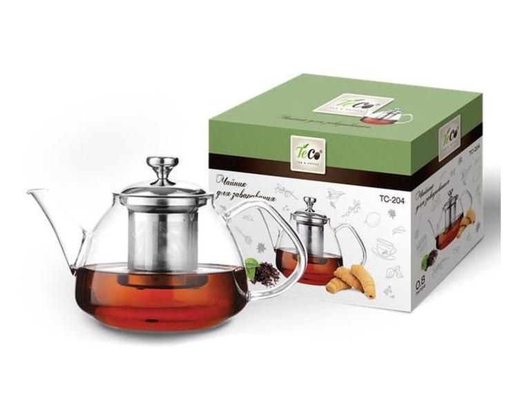 Чайник заварочный TECO 800ml TC-204 чайник заварочный teco 1 0 л tc 211