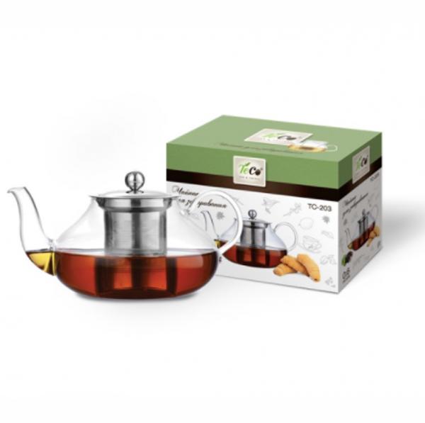 Чайник заварочный TECO 600ml TC-203 чайник заварочный teco 1 0 л tc 211