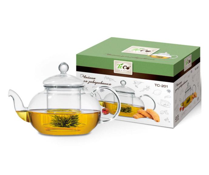 Чайник заварочный TECO 500ml TC-201 чайник заварочный teco 1 0 л tc 211