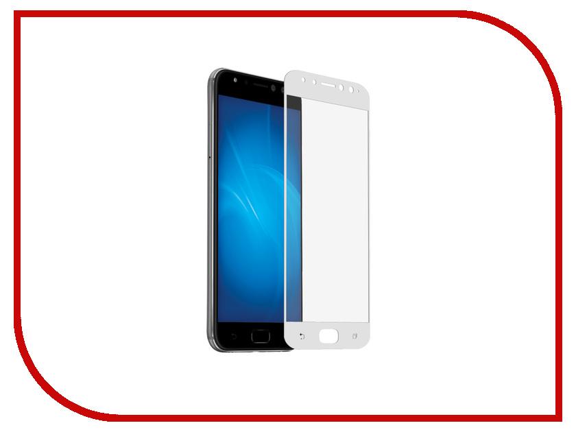 Аксессуар Защитное стекло для ASUS ZenFone 4 Selfie Pro ZD552KL DF Full Screen aColor-12 White защитное стекло для экрана df acolor 01 черный для asus zenfone 3 laser zc551kl 1шт df acolor 01 [df acolor 01 black ]