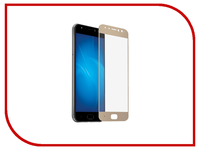 Аксессуар Защитное стекло ASUS ZenFone 4 Selfie Pro ZD552KL DF Full Screen aColor-12 Gold аксессуар закаленное стекло asus zenfone 4 live zb553kl df full screen acolor 10 black