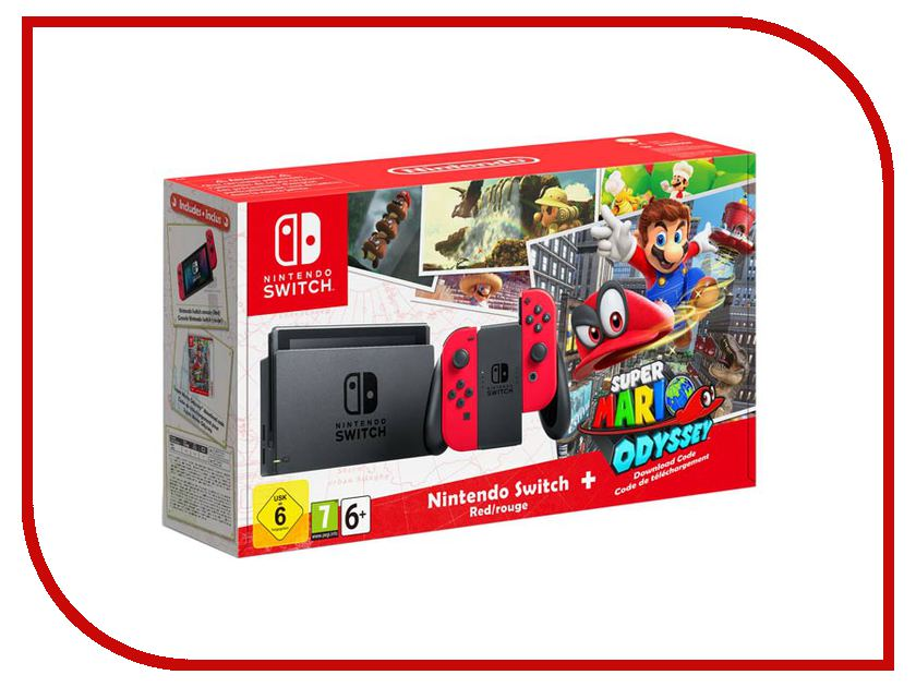 Игровая приставка Nintendo Switch Red + Super Mario Odyssey Bundle [vk] bze6 2rn80 switch snap action spdt 15a 125v switch