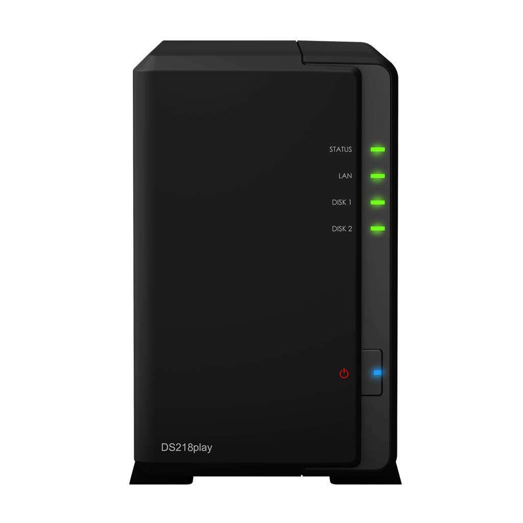 Сетевое хранилище Synology DS218play рэковое сетевое хранилище rack nas synology rs2416 rs2416