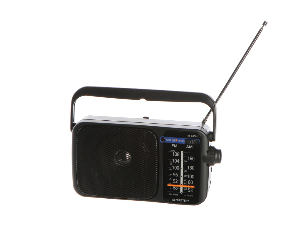 лучшая цена Радиоприемник Panasonic RF-2400DEE9-K