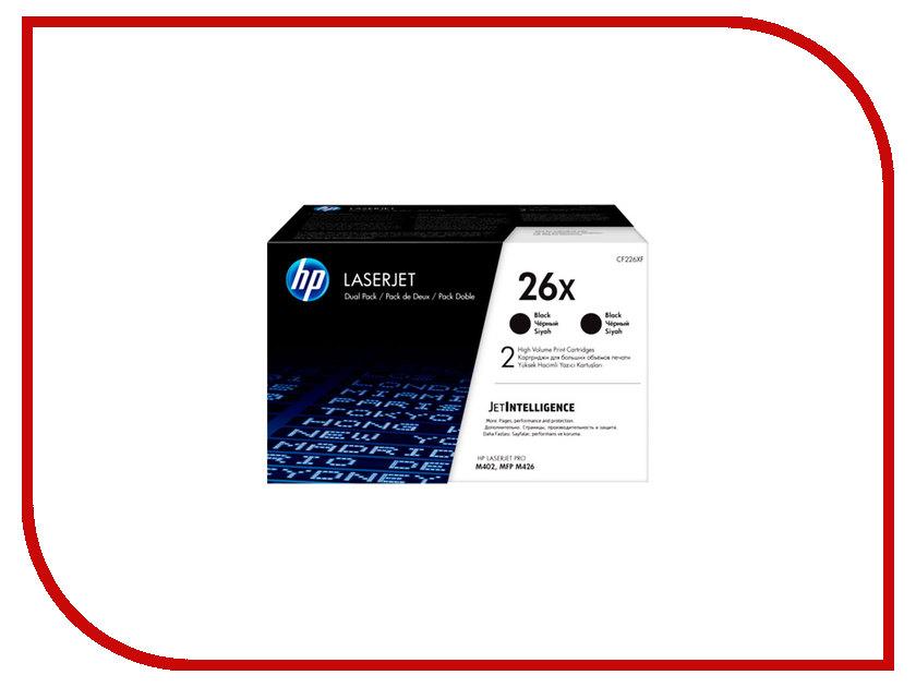 Картридж HP 26X (2шт) CF226XF Black для LaserJet M402/M426 мышь doffler m402