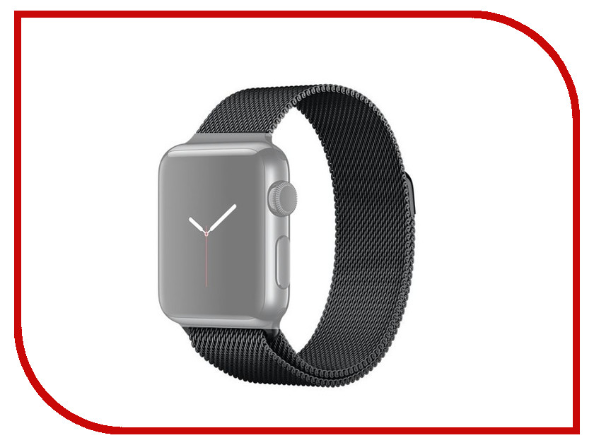Аксессуар Ремешок APPLE Watch 42mm Activ Black Metal Mesh 79567 аксессуар ремешок apple watch 42mm activ red smooth leather 79566