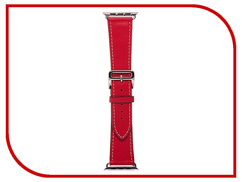 Аксессуар Ремешок APPLE Watch 42mm Activ Red Smooth Leather 79566 date faux leather quartz watch