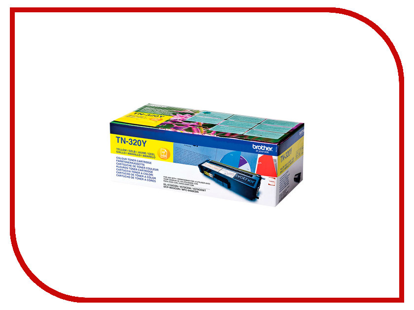 Картридж Brother TN-320Y Yellow для HL-4150CDN/MFC-9465CDN TN320Y цена и фото